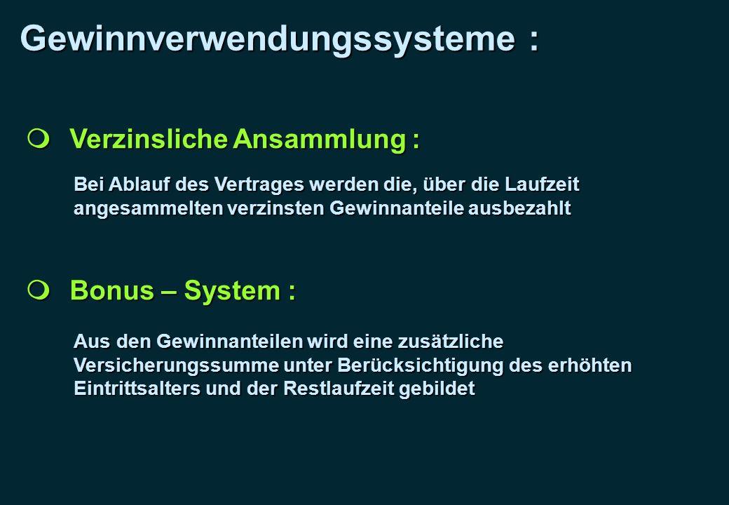 Gewinnverwendungssysteme :
