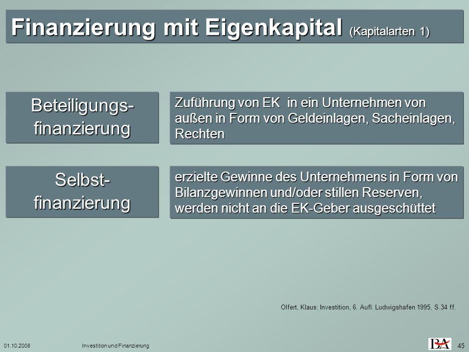 Beteiligungs-finanzierung