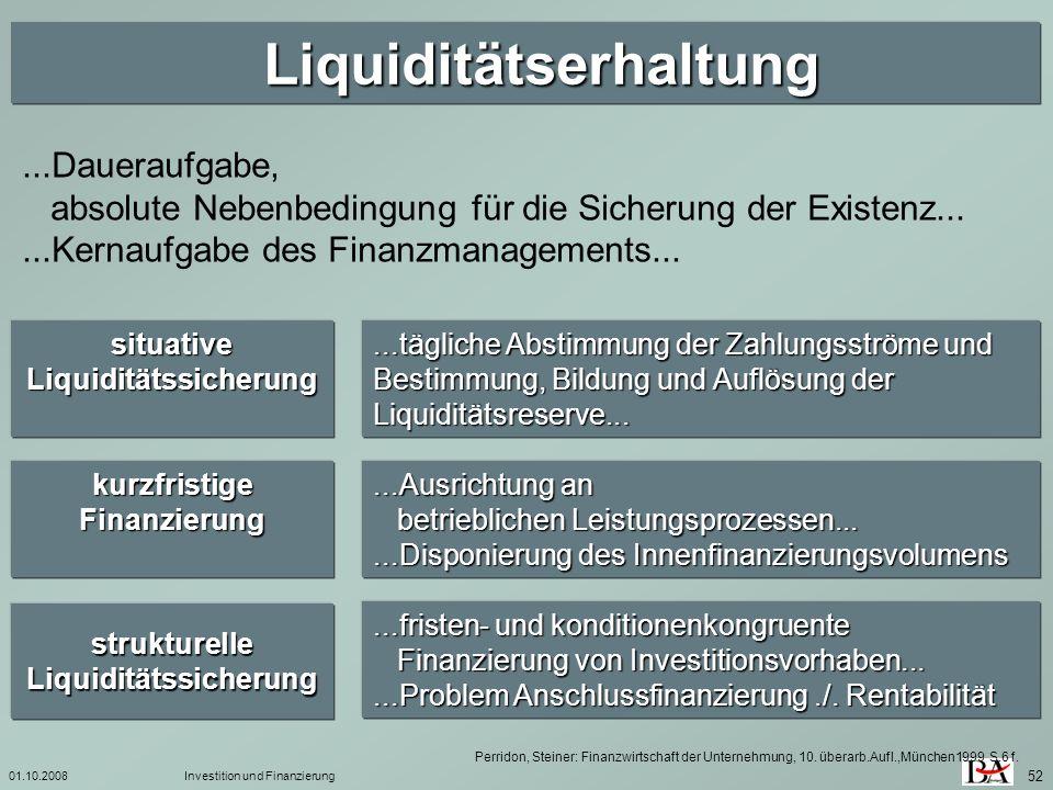 Liquiditätserhaltung