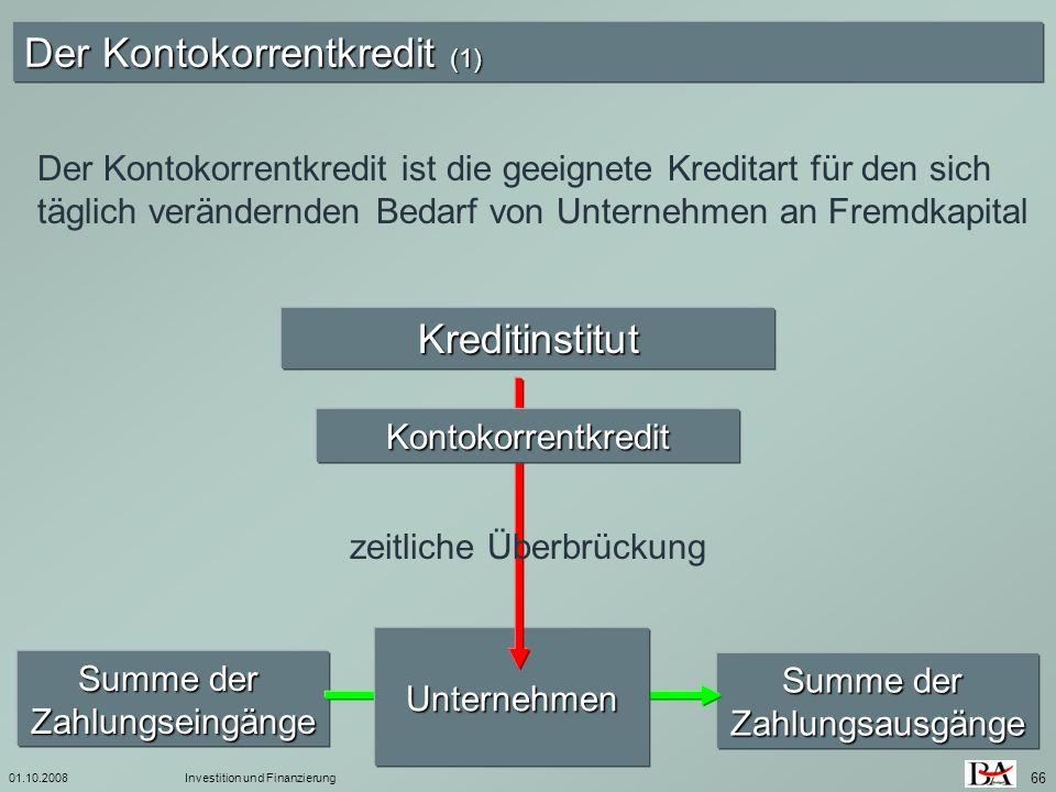 Der Kontokorrentkredit (1)