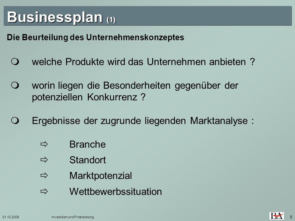 Businessplan (1)  welche Produkte wird das Unternehmen anbieten