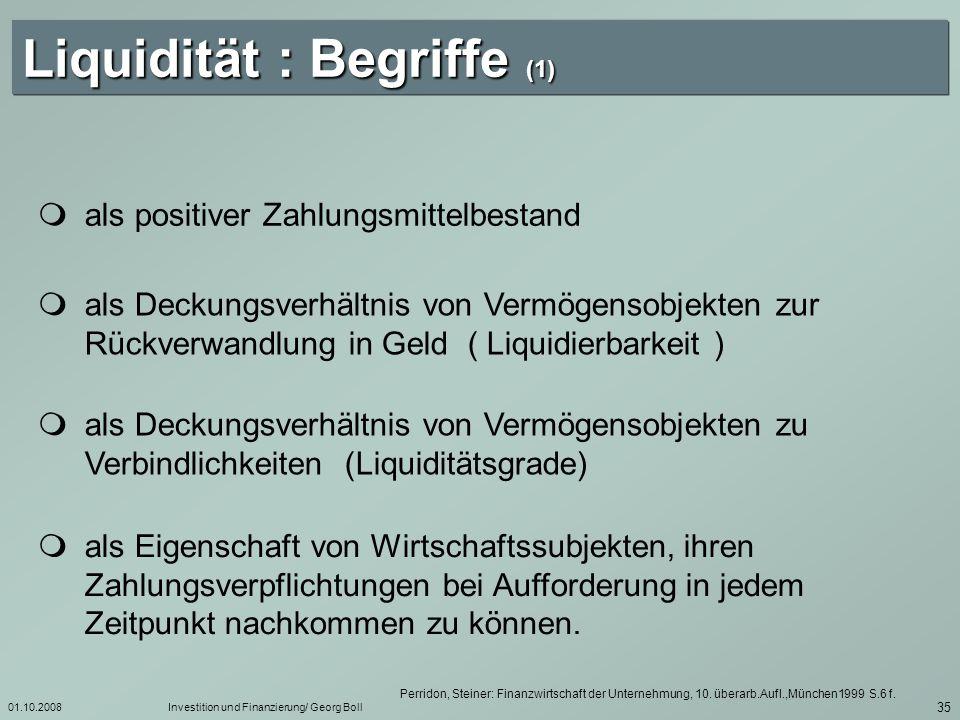 Liquidität : Begriffe (1)