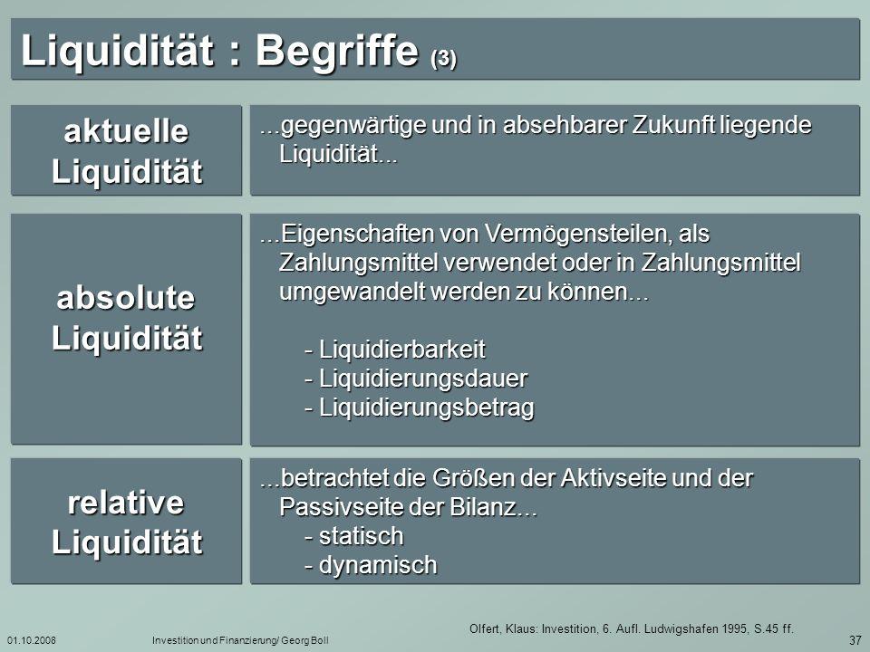Liquidität : Begriffe (3)