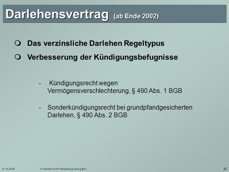 Darlehensvertrag (ab Ende 2002)