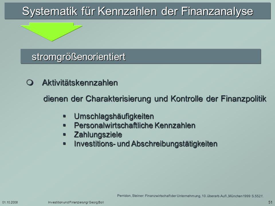 Systematik für Kennzahlen der Finanzanalyse