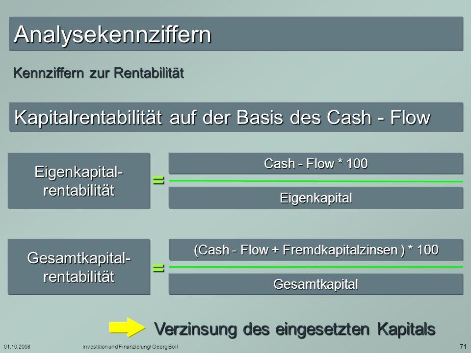 Analysekennziffern = =