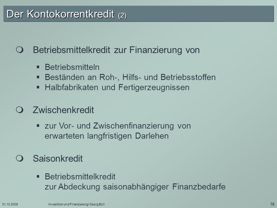 Der Kontokorrentkredit (2)