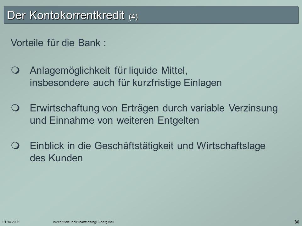 Der Kontokorrentkredit (4)