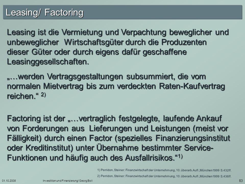 Leasing/ Factoring