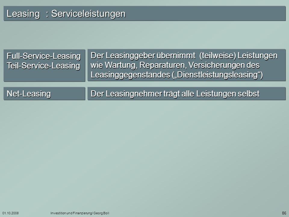 Leasing : Serviceleistungen