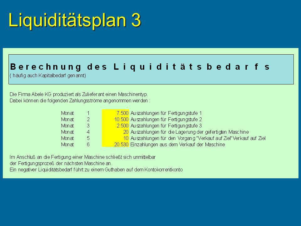 Liquiditätsplan 3