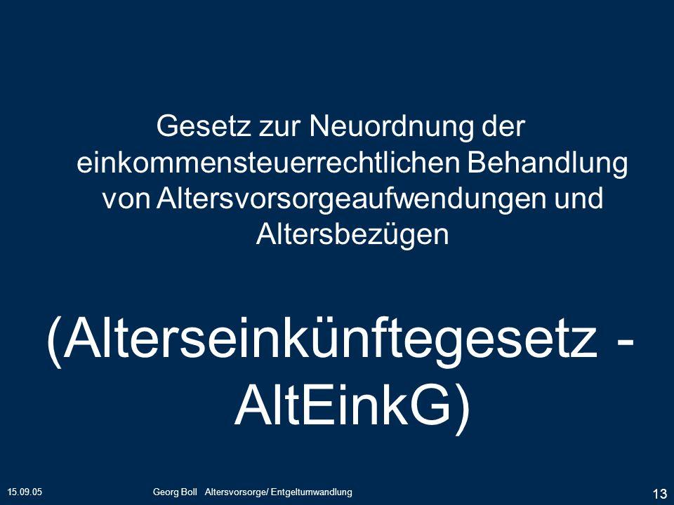 (Alterseinkünftegesetz - AltEinkG)