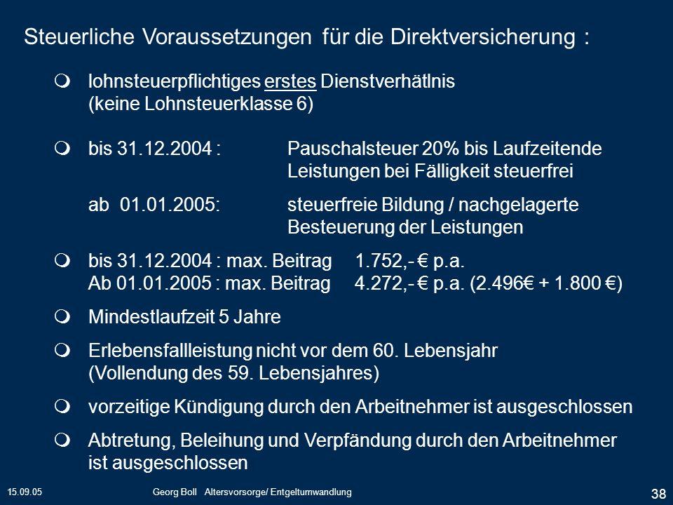 Georg Boll Altersvorsorge/ Entgeltumwandlung