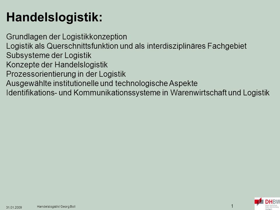 Handelslogistik: Grundlagen der Logistikkonzeption