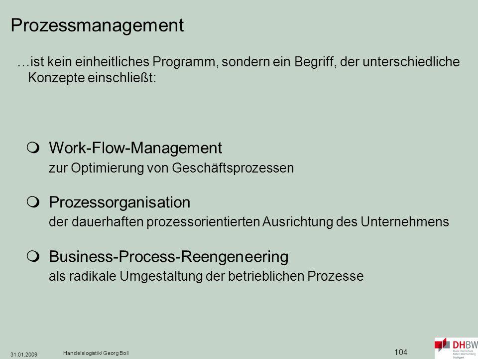 Prozessmanagement …ist kein einheitliches Programm, sondern ein Begriff, der unterschiedliche Konzepte einschließt: