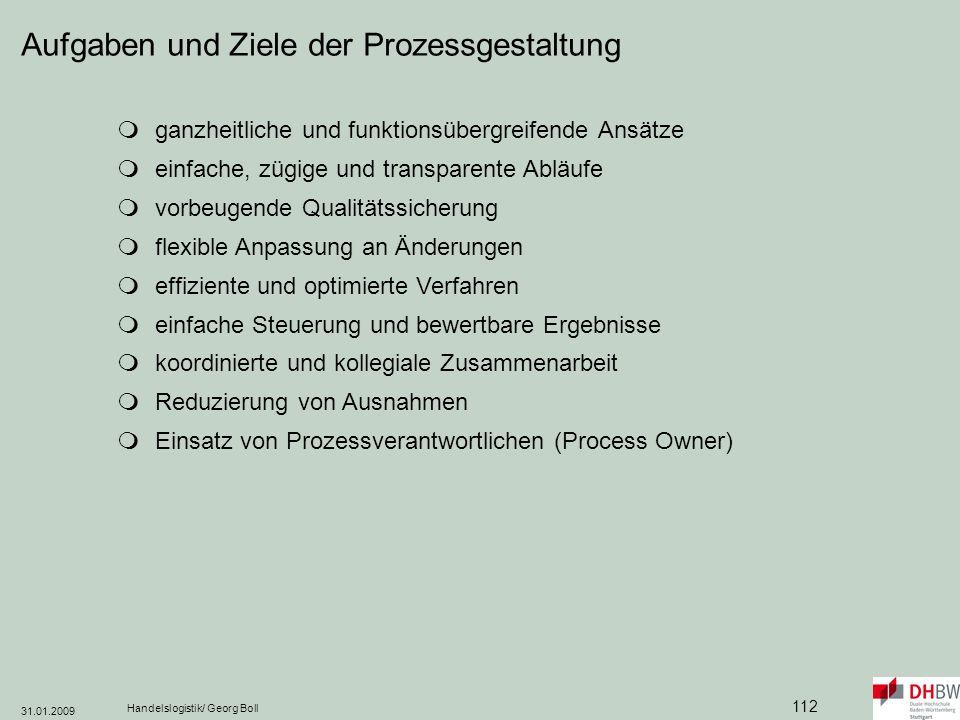 Aufgaben und Ziele der Prozessgestaltung