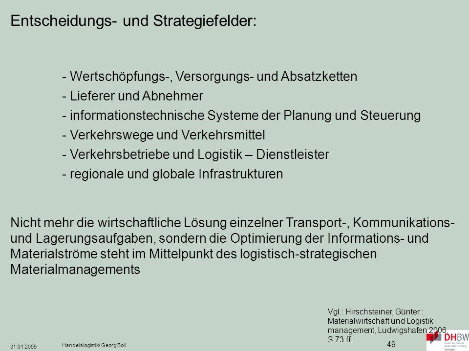 Entscheidungs- und Strategiefelder:
