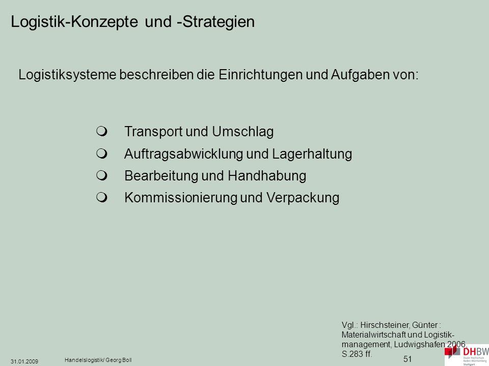 Logistik-Konzepte und -Strategien
