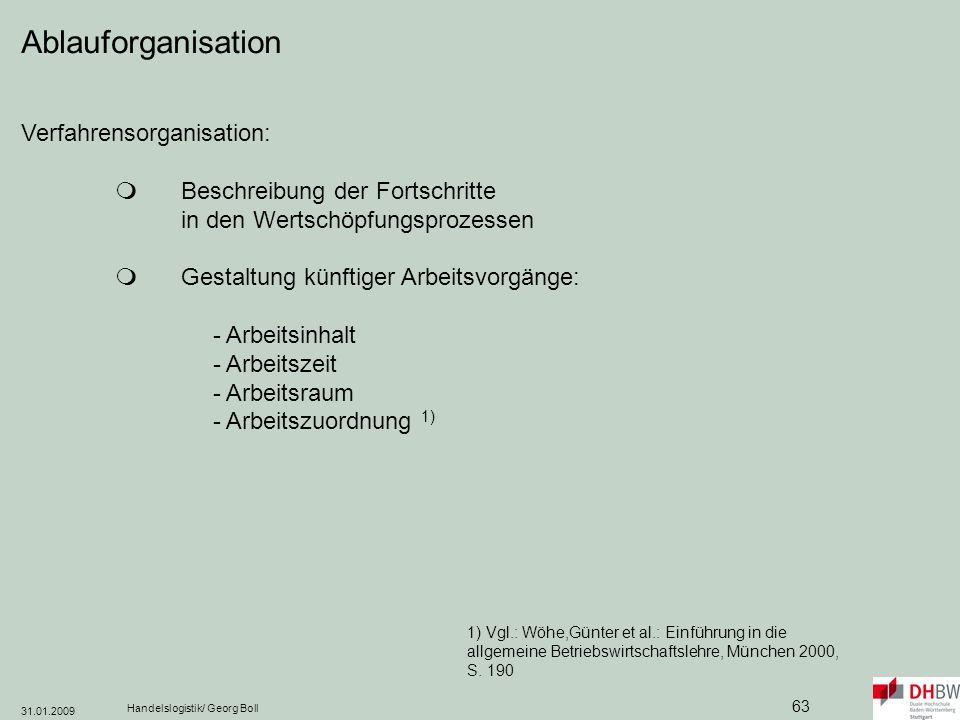 Ablauforganisation Verfahrensorganisation: