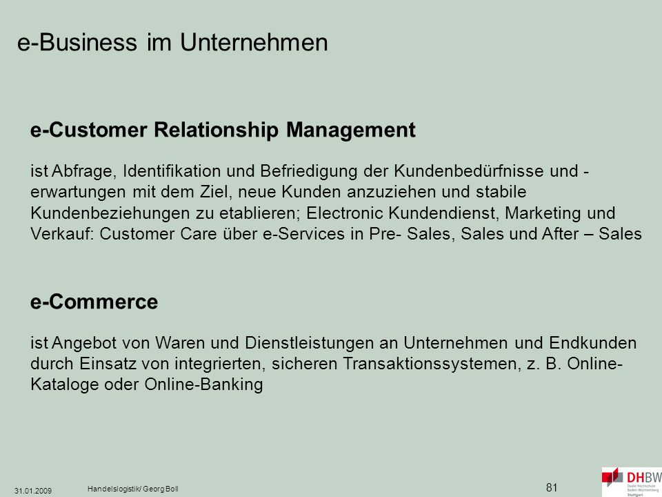 e-Business im Unternehmen