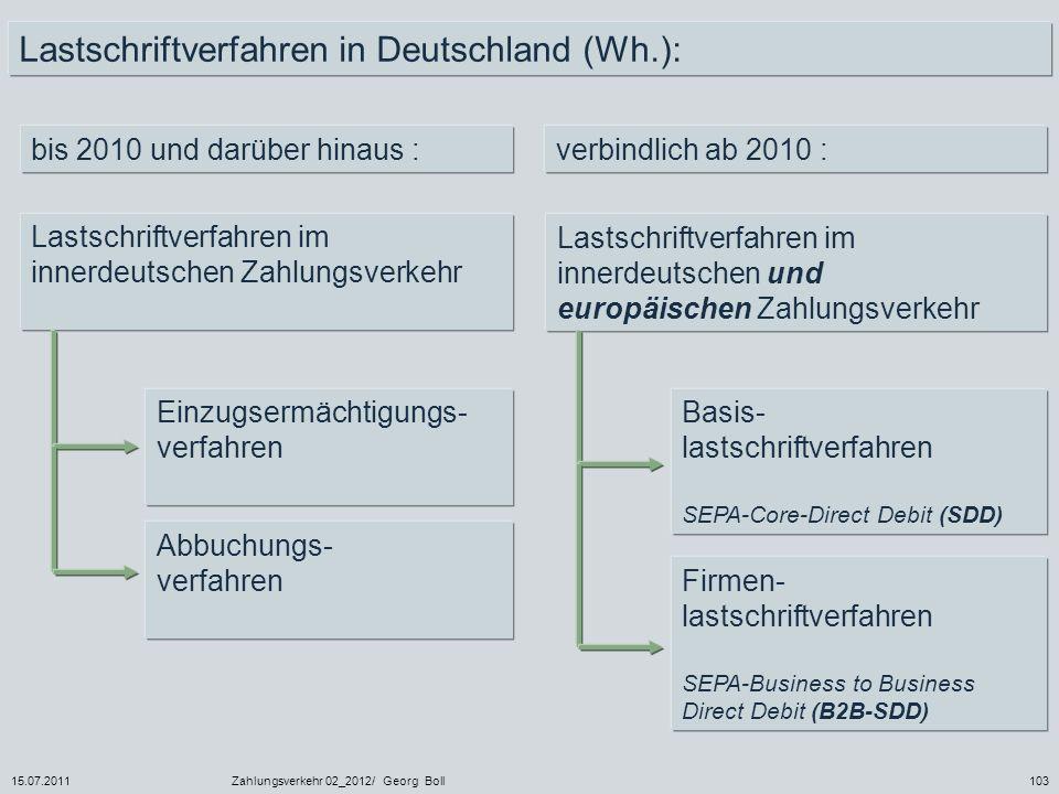 Lastschriftverfahren in Deutschland (Wh.):