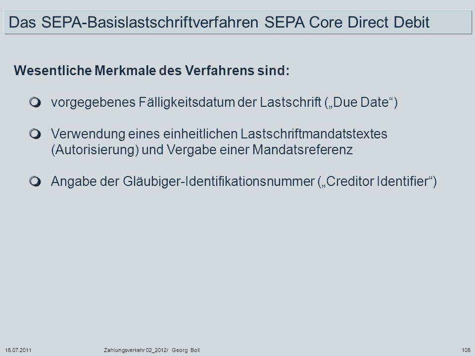 Das SEPA-Basislastschriftverfahren SEPA Core Direct Debit