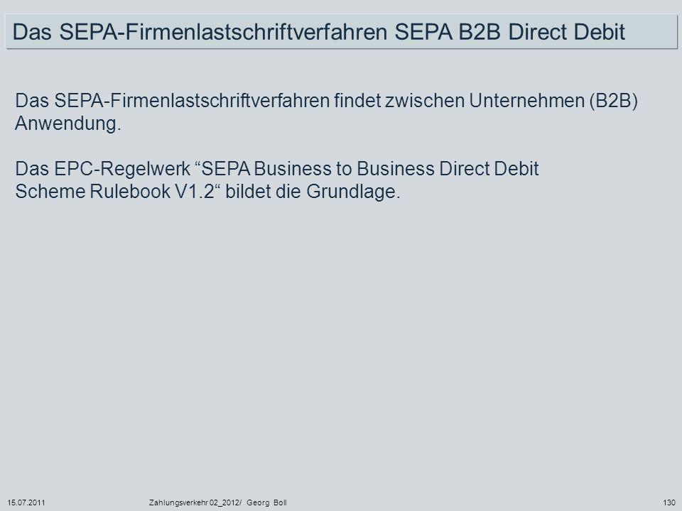 Das SEPA-Firmenlastschriftverfahren SEPA B2B Direct Debit