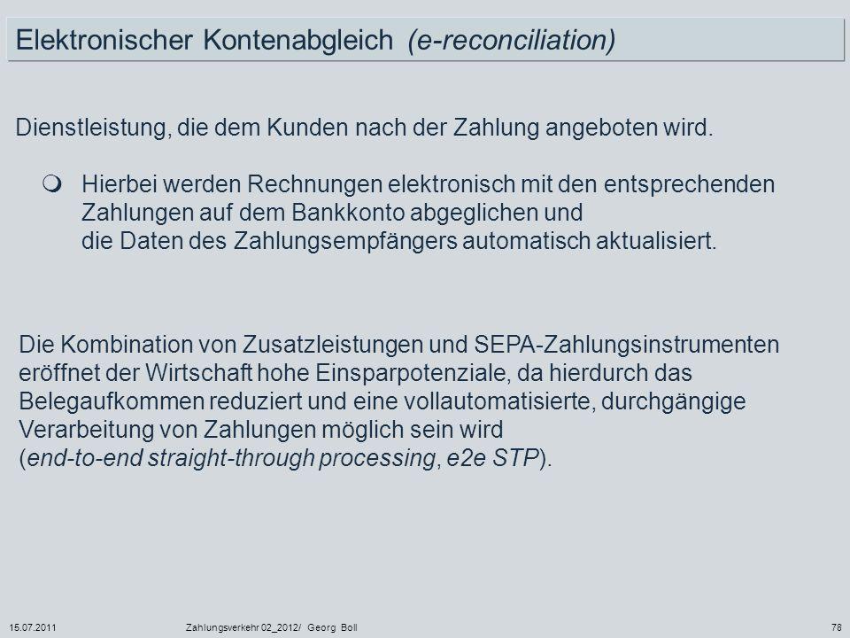 Elektronischer Kontenabgleich (e-reconciliation)