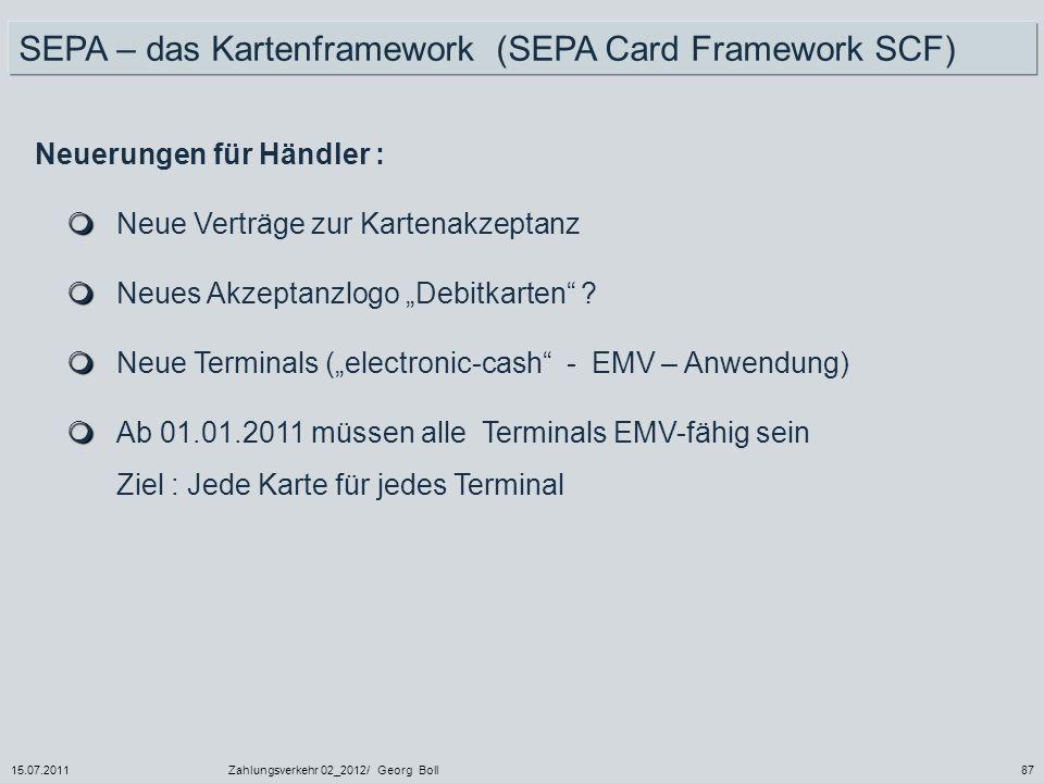 SEPA – das Kartenframework (SEPA Card Framework SCF)