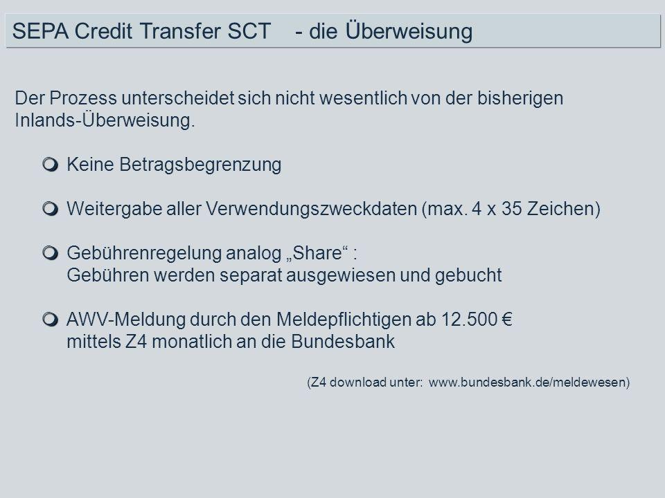 SEPA Credit Transfer SCT - die Überweisung