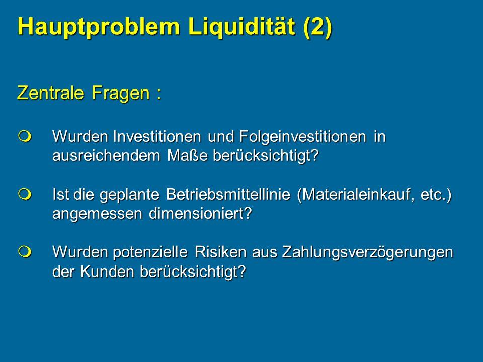 Hauptproblem Liquidität (2)