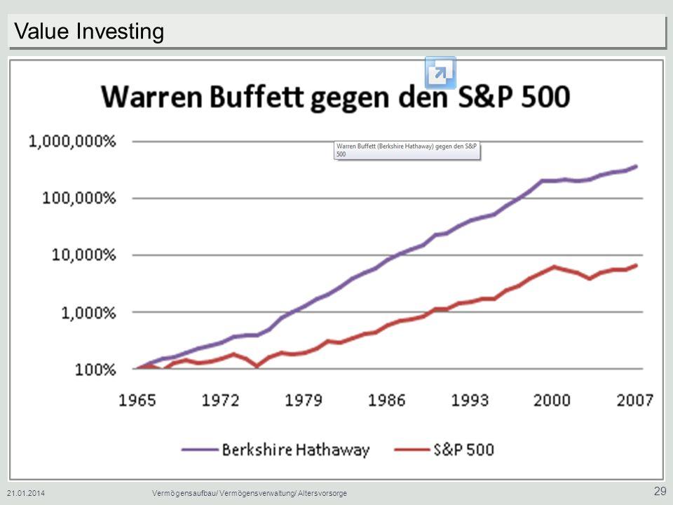 Value Investing 27.03.2017 Vermögensaufbau/ Vermögensverwaltung/ Altersvorsorge