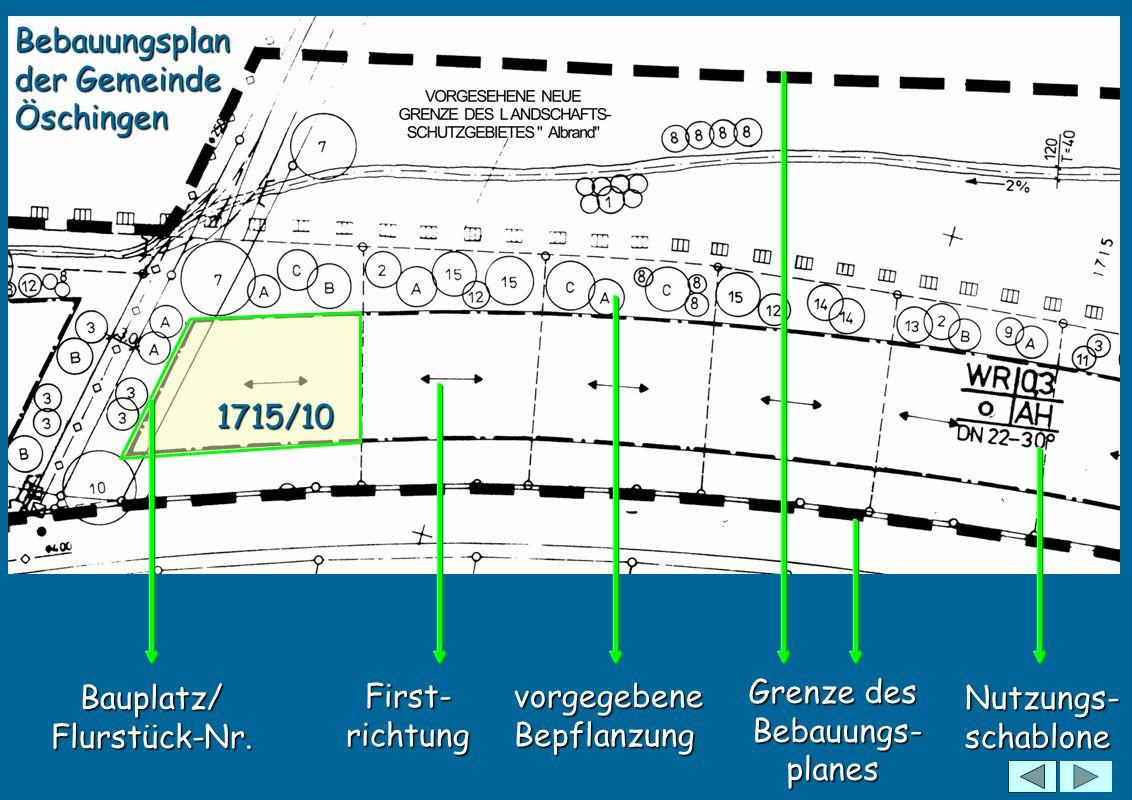 Bebauungsplan der Gemeinde Öschingen