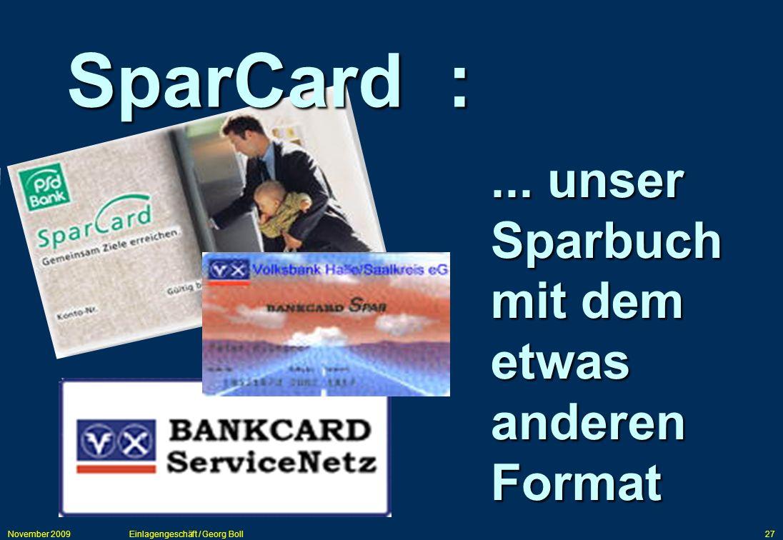 SparCard : ... unser Sparbuch mit dem etwas anderen Format