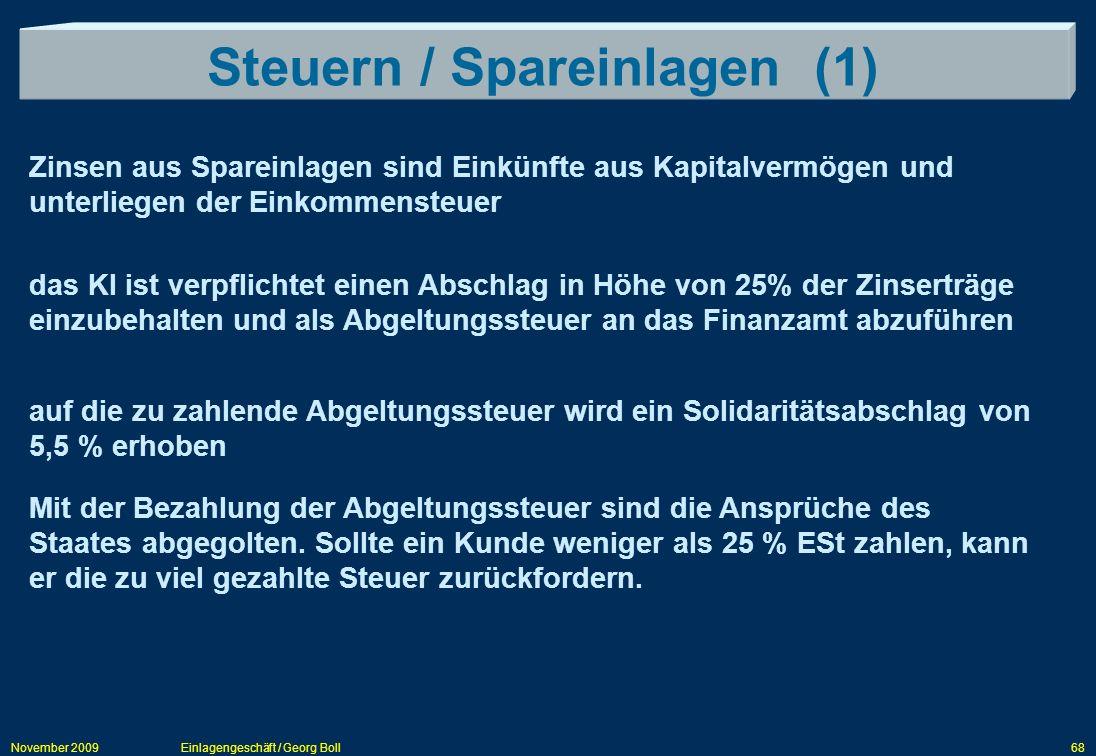 Steuern / Spareinlagen (1)