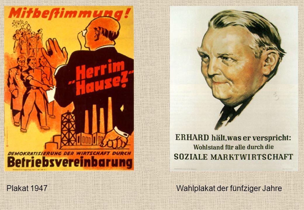 Plakat 1947 Wahlplakat der fünfziger Jahre