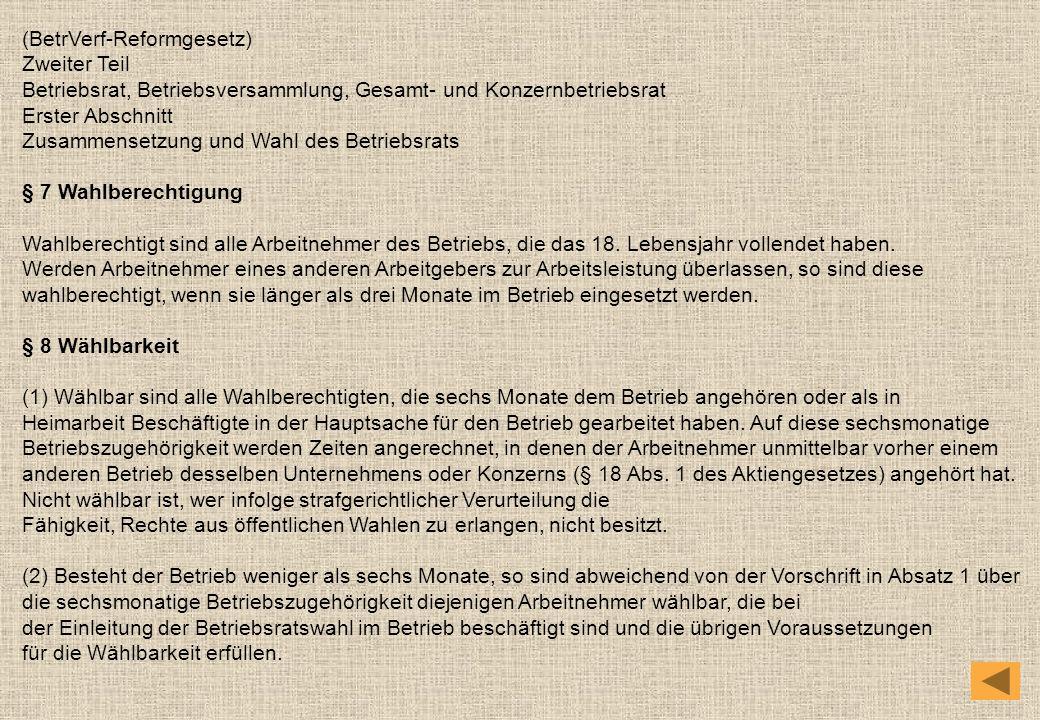 (BetrVerf-Reformgesetz)