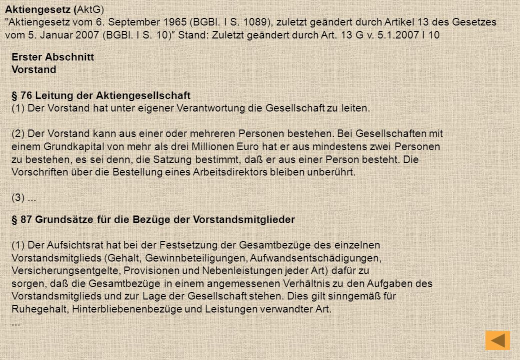 Aktiengesetz (AktG)