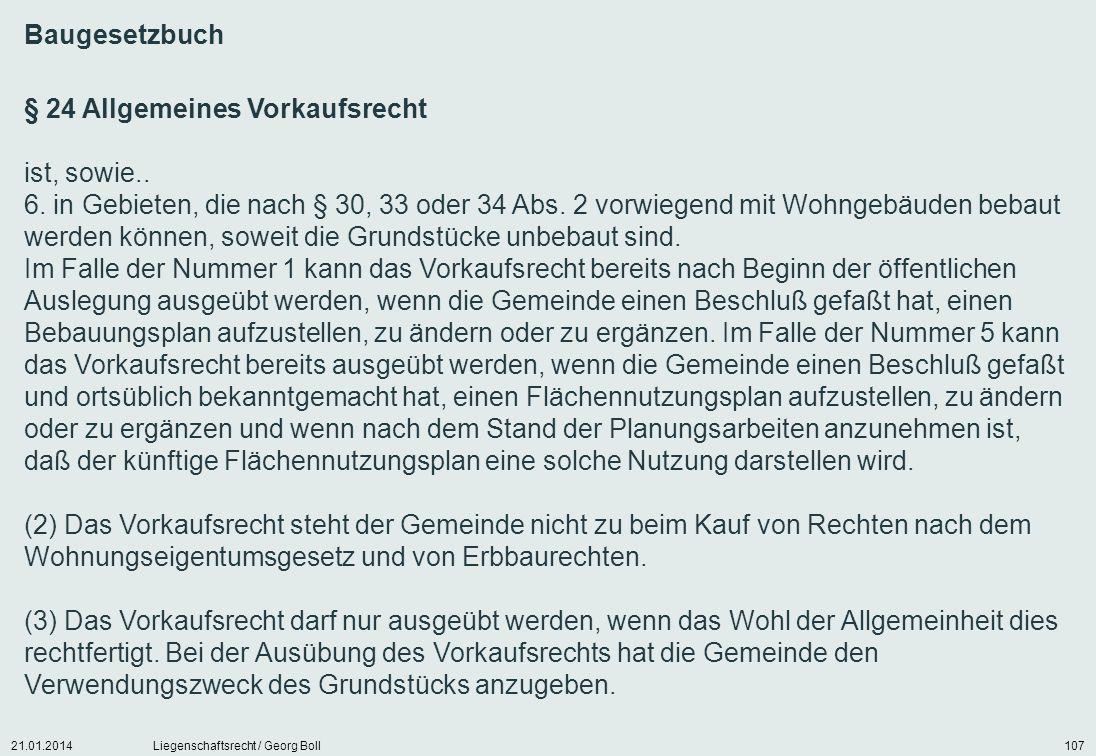 § 24 Allgemeines Vorkaufsrecht ist, sowie..