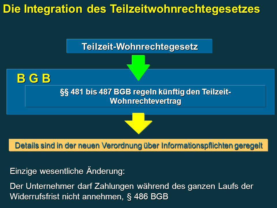 B G B Die Integration des Teilzeitwohnrechtegesetzes
