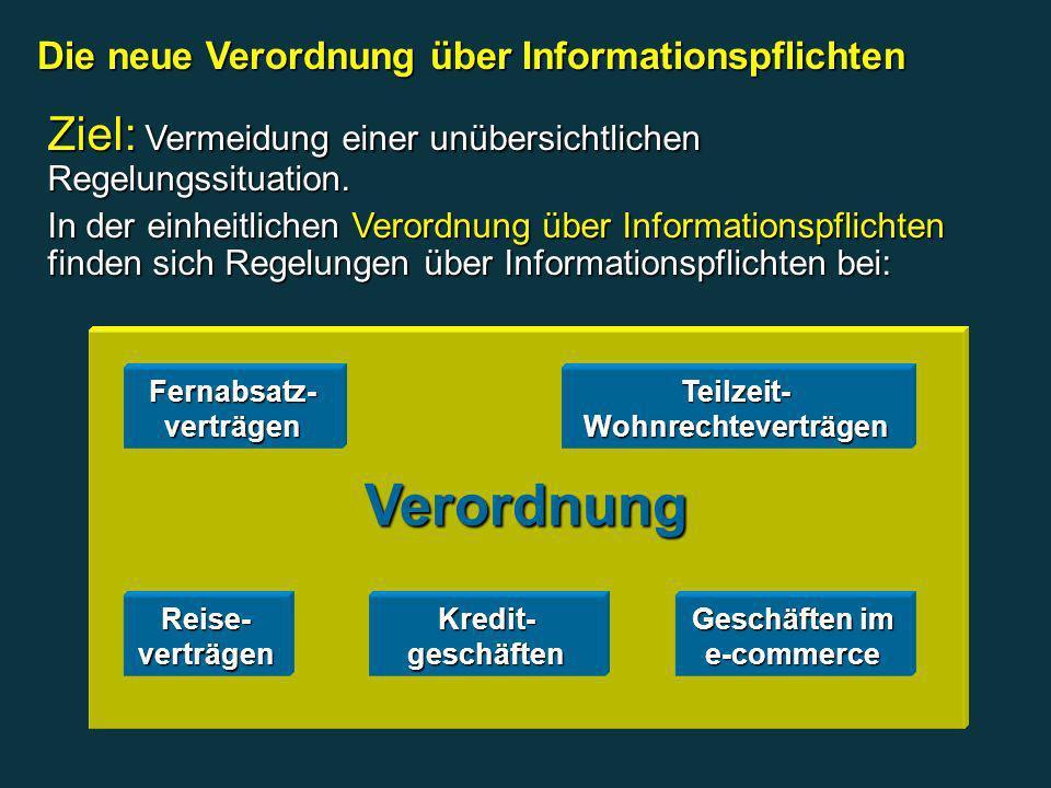 Die neue Verordnung über Informationspflichten