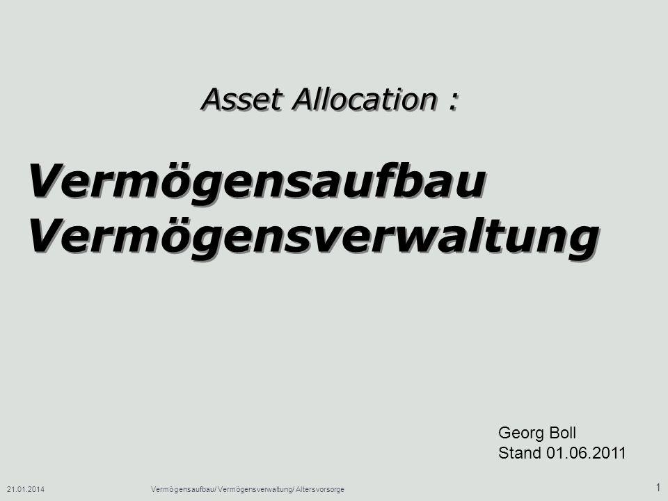 Vermögensaufbau Vermögensverwaltung