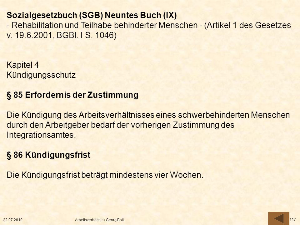 Sozialgesetzbuch (SGB) Neuntes Buch (IX)
