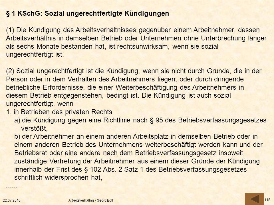 § 1 KSchG: Sozial ungerechtfertigte Kündigungen