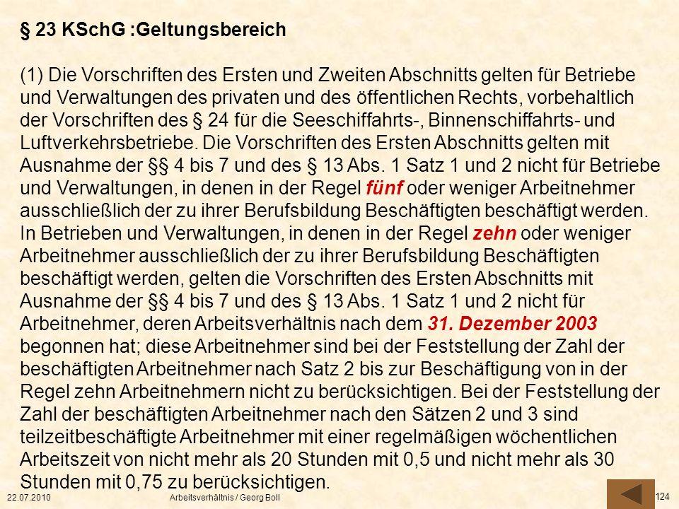 § 23 KSchG :Geltungsbereich