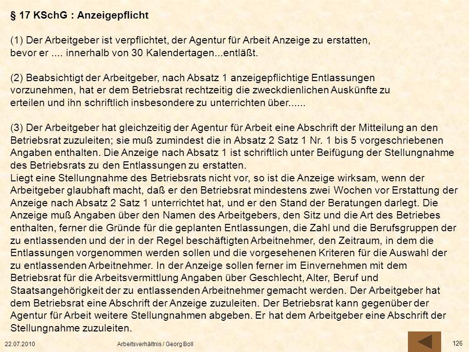 § 17 KSchG : Anzeigepflicht