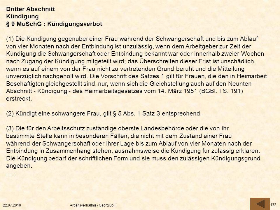 § 9 MuSchG : Kündigungsverbot
