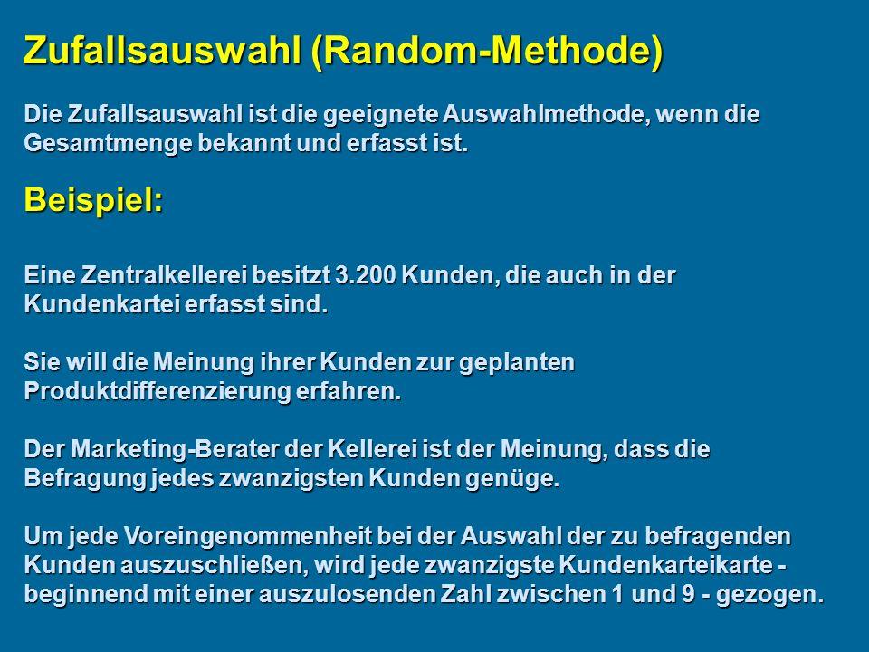 Zufallsauswahl (Random-Methode)