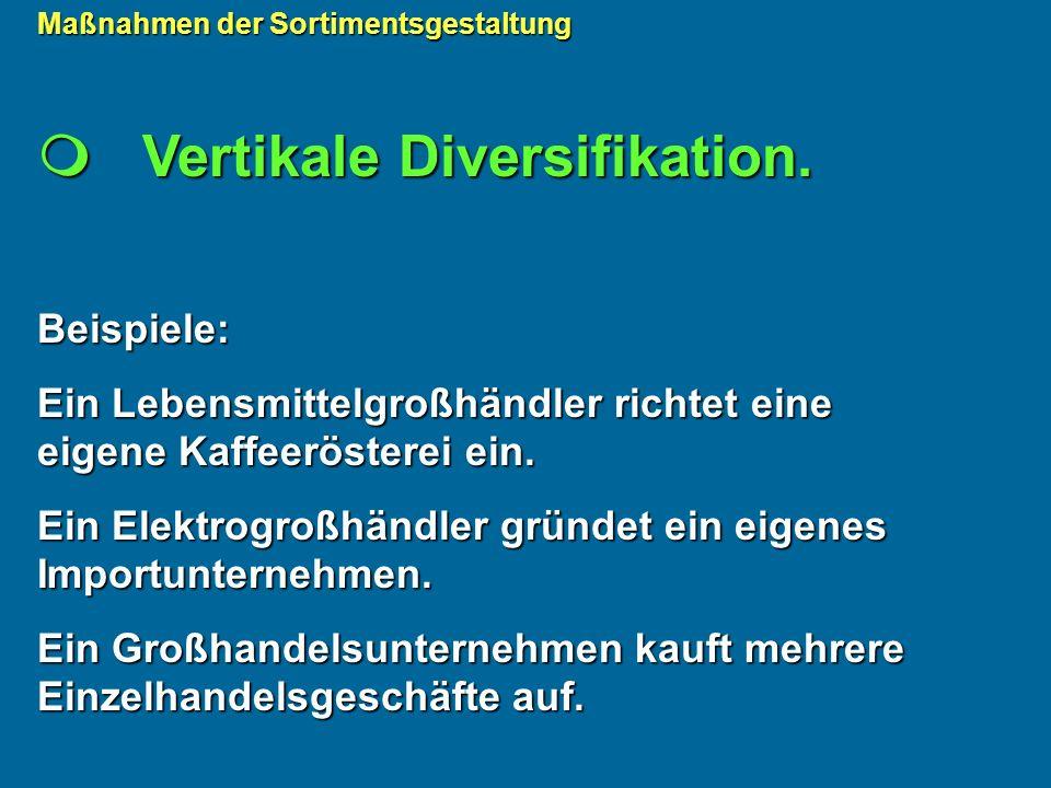  Vertikale Diversifikation.