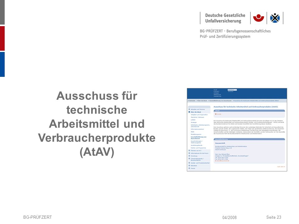 Ausschuss für technische Arbeitsmittel und Verbraucherprodukte (AtAV)